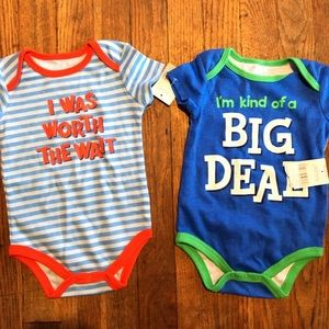 Other - 2 onesies size 3-6M NWT